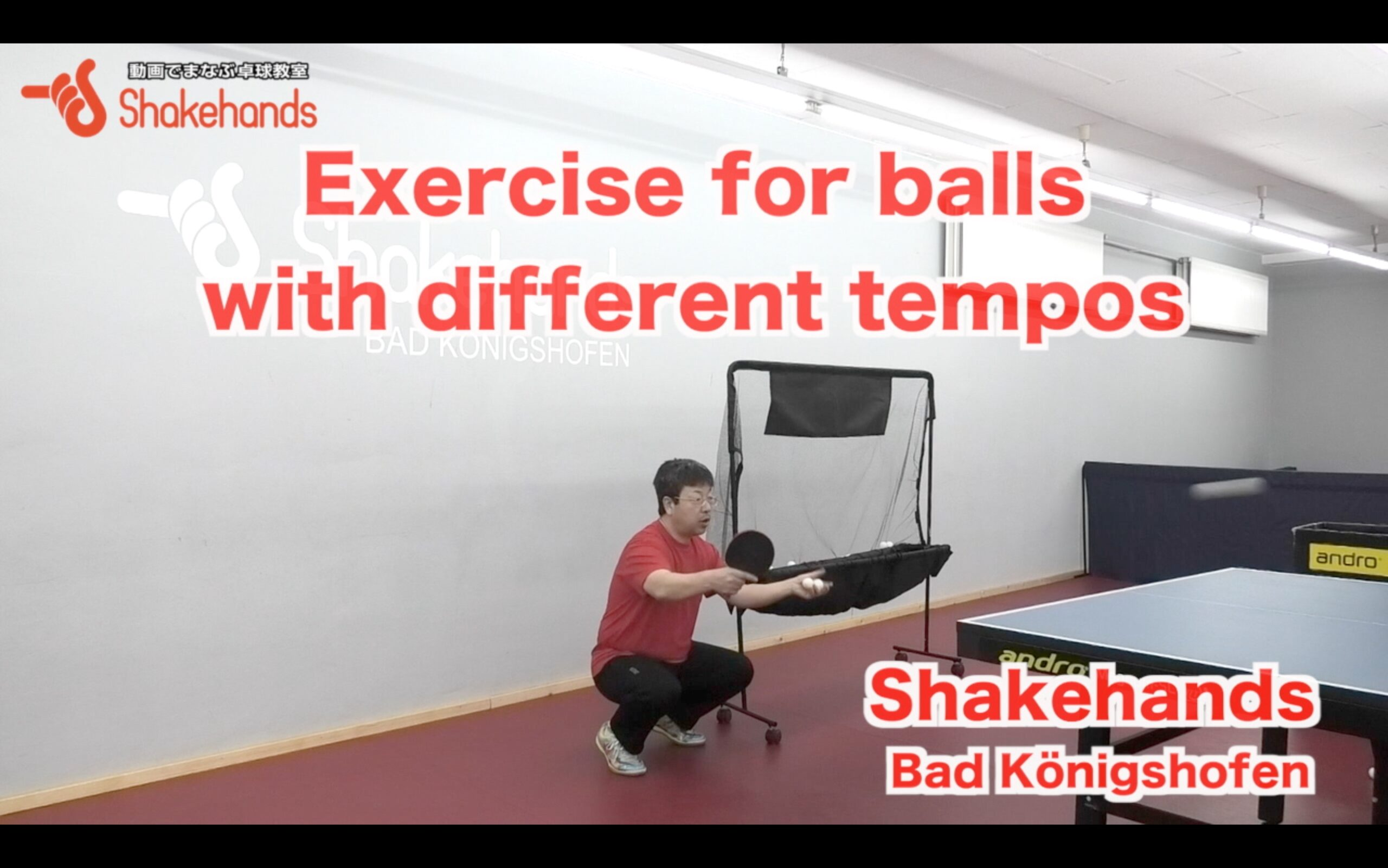 Exercise for balls with different tempos
